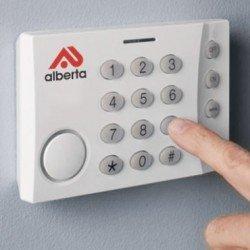 burglar alarm keypad panel